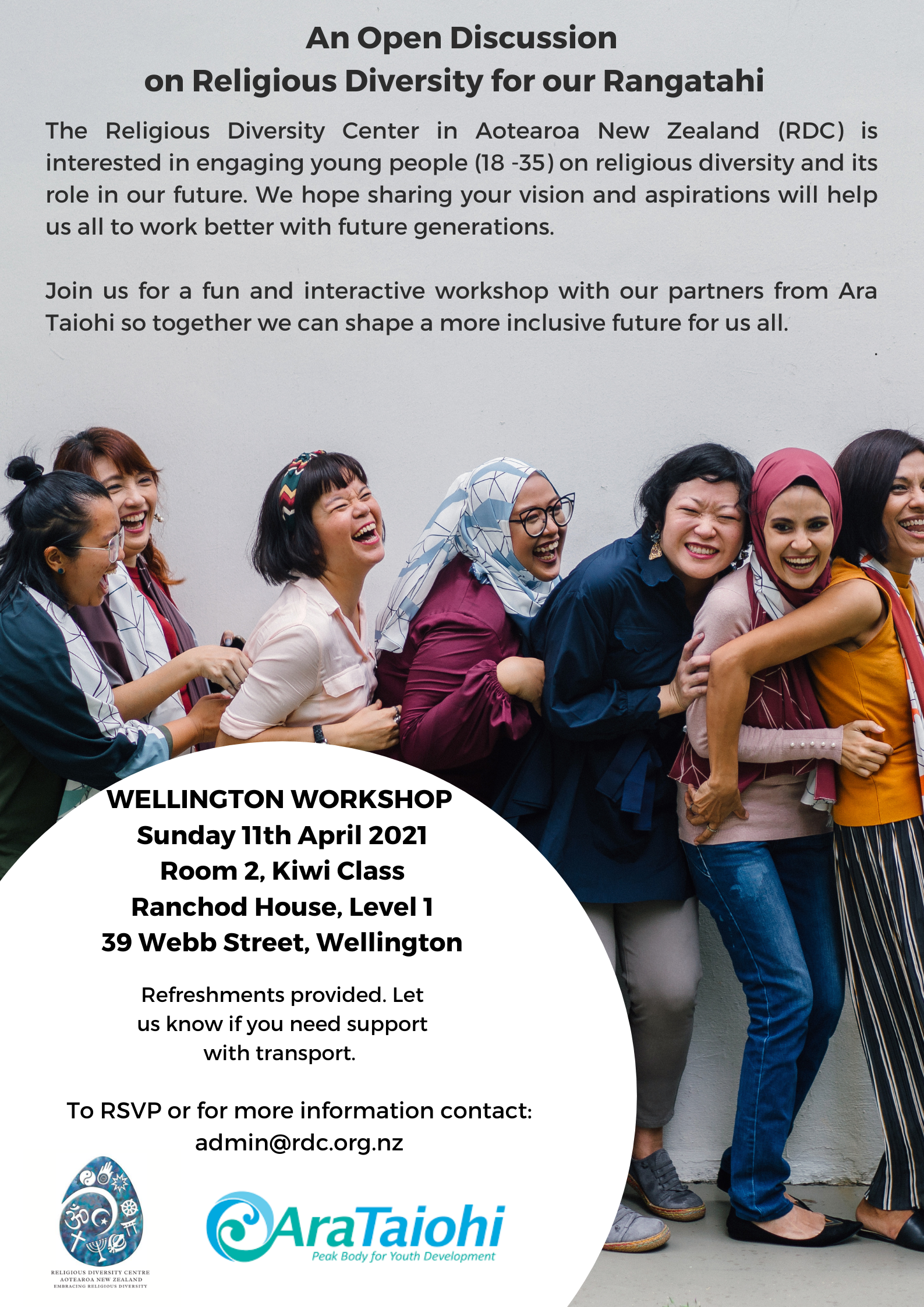 Workshop for Young Adults – Christchurch