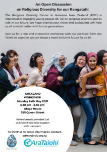 Workshop for Young Adults – Auckland