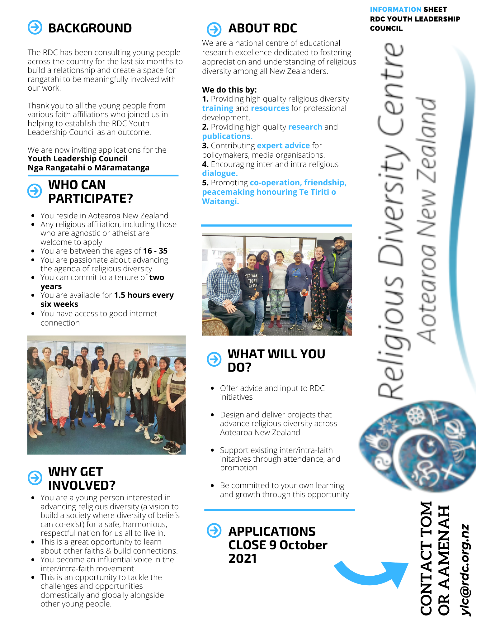 Youth Leadership Council – Application